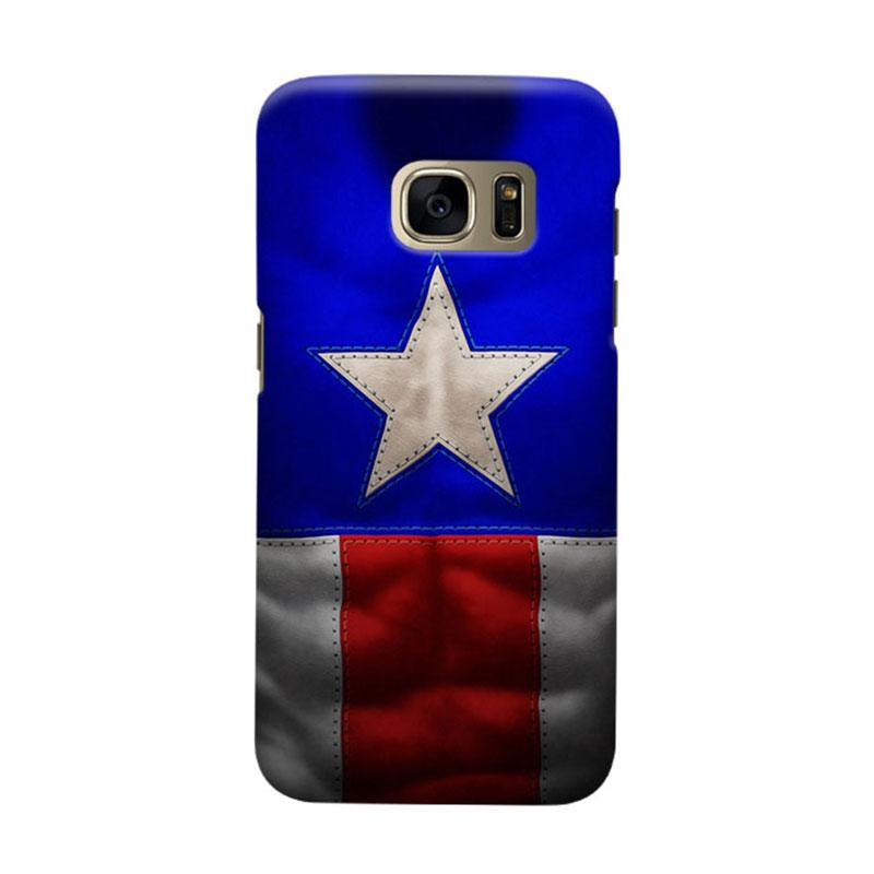 Indocustomcase Captain America CAS03 Cover Casing for Samsung Galaxy S6 Edge