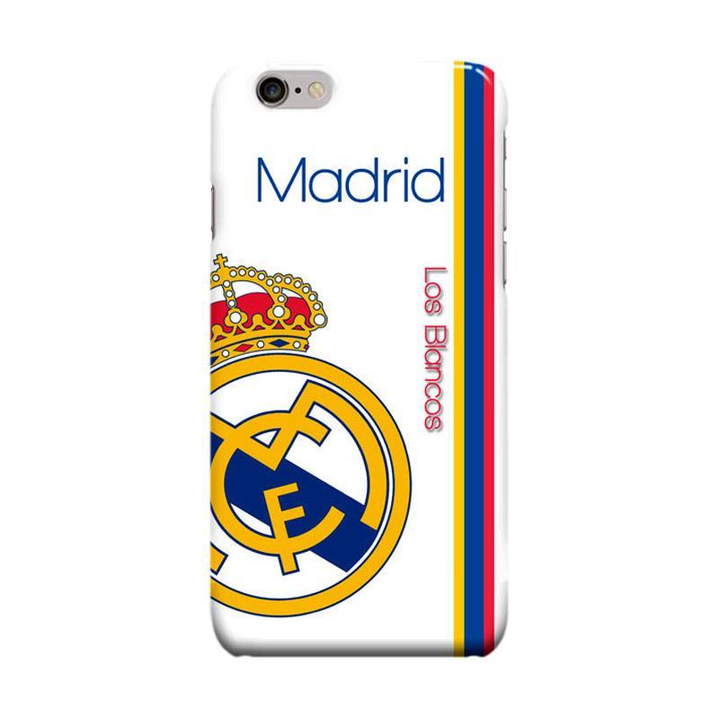 Indocustomcase Real Madrid Logo RMA10 Casing for Apple iPhone 6 Plus or 6S Plus