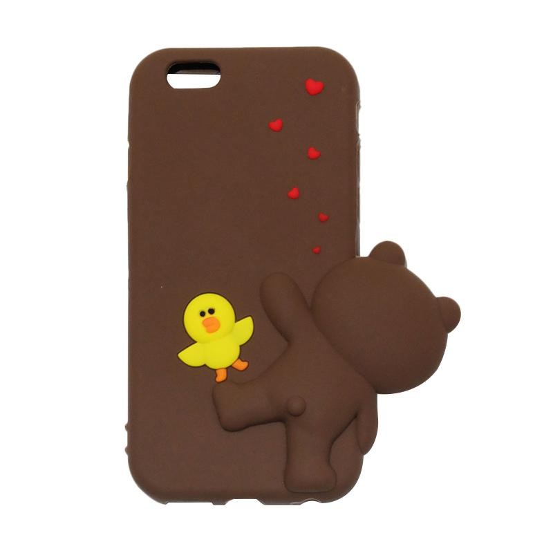 VR Softcase Silicon Animasi 3D Sally Duck Edition Casing for Apple iPhone 6 or 6S 4.7 Inch - Brown