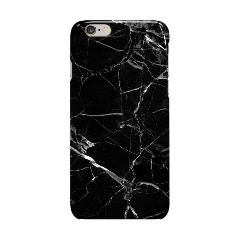 Indocustomcase ID01 Cover Casing for Apple Iphone 6 Plus or 6S Plus - Black Marble