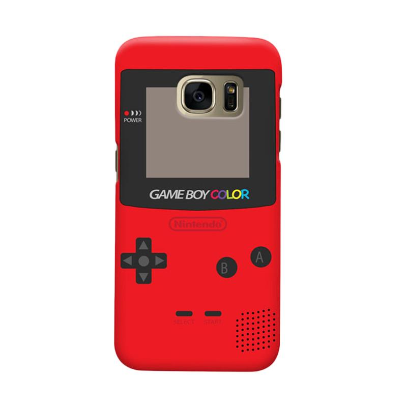 Indocustomcase Nintendo Red Game Boy Cover Casing for Samsung Galaxy S6