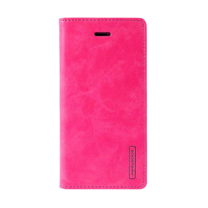 Goospery Mercury Bluemoon Flip Cover Casing for Samsung Galaxy S7 Edge - Hot Pink