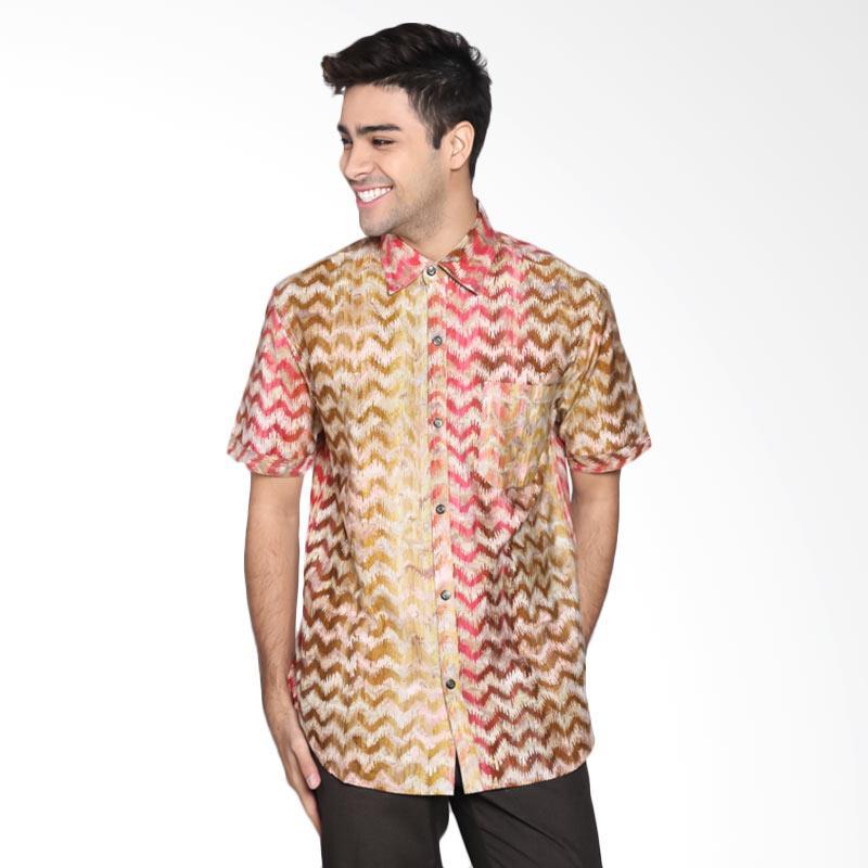 Batik Pria Tampan PKMPD-04081677C-Blush Men Cap Slim ABS Vitage Zig Zag Skin Batik Pria