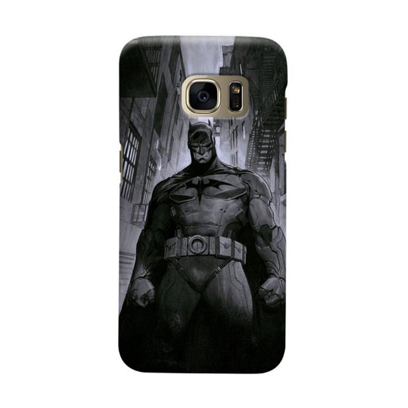 Indocustomcase Batman Grunge Art Cover Casing for Samsung Galaxy S6 Edge