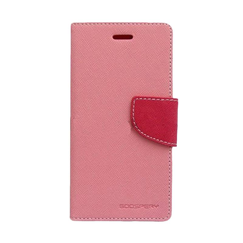 Mercury Fancy Diary Flip Cover Casing for Samsung Galaxy Ace NXT Ace 4 G313H - Pink Magenta