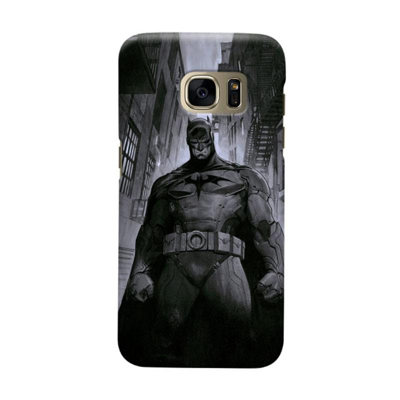 Indocustomcase Batman Grunge Art Cover Casing for Samsung Galaxy S7 Edge