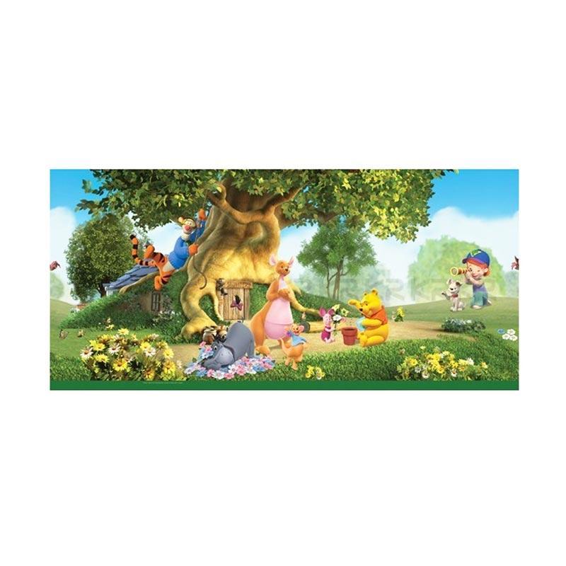 Hyundae Fixpix DG 11907 Forest Trip Pooh Border Sticker Dekorasi Dinding [45 cm x 2 m]