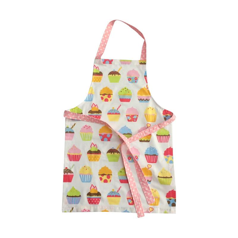harga Strawberry Patch Apron Celemek Masak Ukuran Anak-anak Motif Cupcake - White Blibli.com