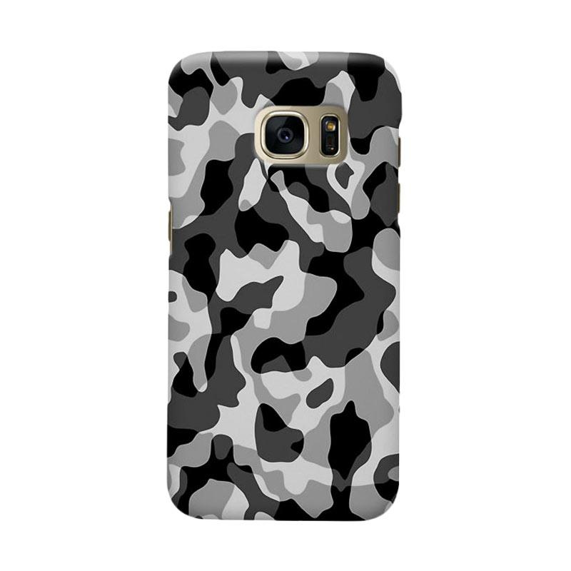 Indocustomcase Army Grey Camoflauge Casing for Samsung Galaxy S6