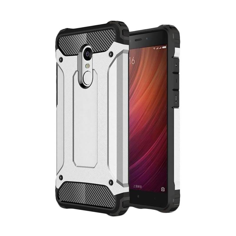 OEM Spigen Transformers Iron Robot Hardcase Casing for Xiaomi Redmi Note 3 Pro - Silver