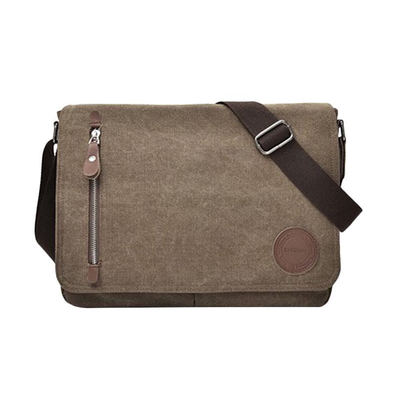 ... Jual Generic Tas Selempang Laptop Kanvas Travel Pria Korea Sling Bag Multifungsi M5