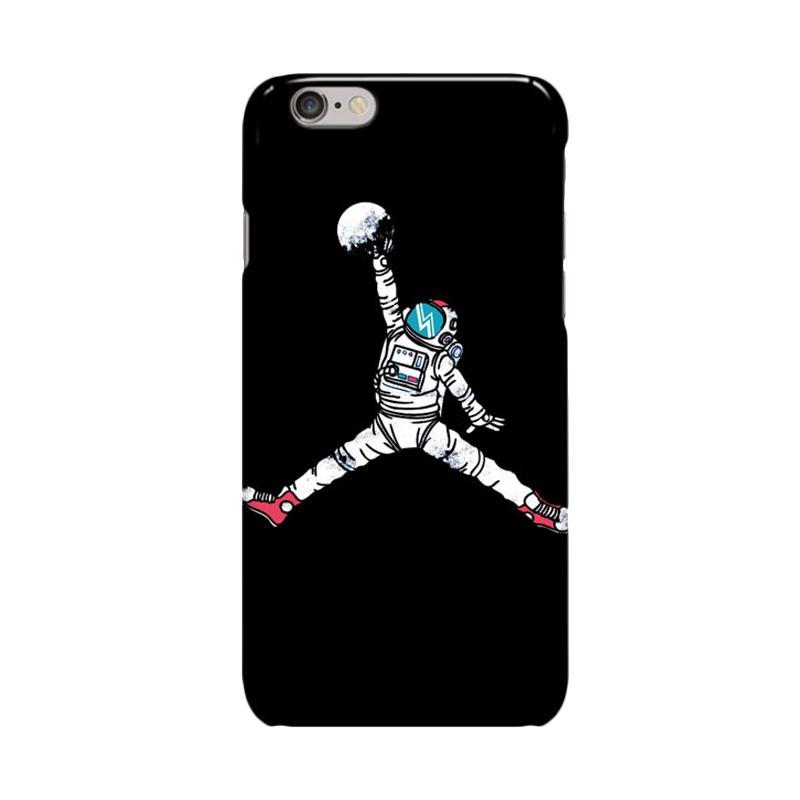 Indocustomcase Space Dunk Case Cover Casing for iPhone 6 Plus or 6S Plus - Black