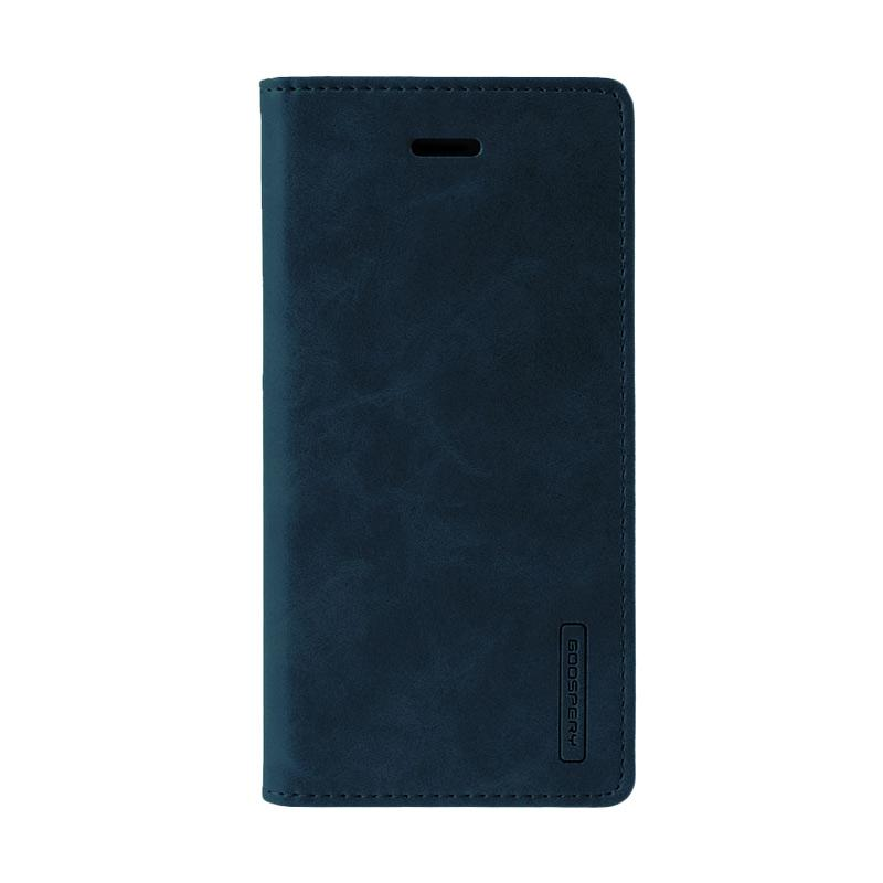 Mercury Goospery Bluemoon Flip Cover Casing for Xiaomi Redmi Note 4 - Biru Dongker