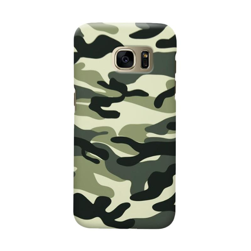 Indocustomcase Army Green Camoflauge Casing for Samsung Galaxy S6