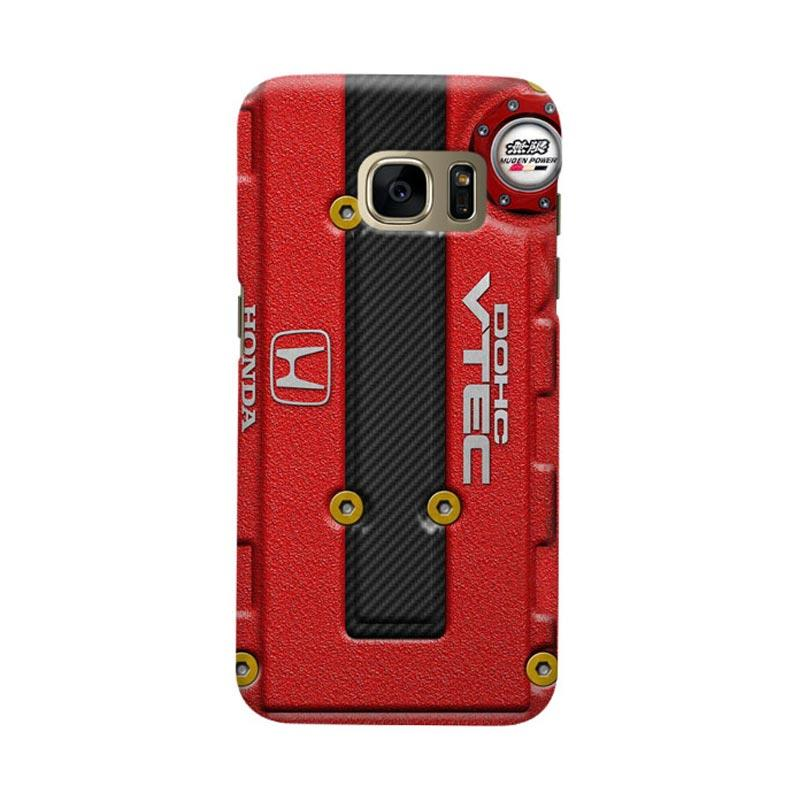 Indocustomcase Honda Cover Engine Cover Casing for Samsung Galaxy S6 Edge