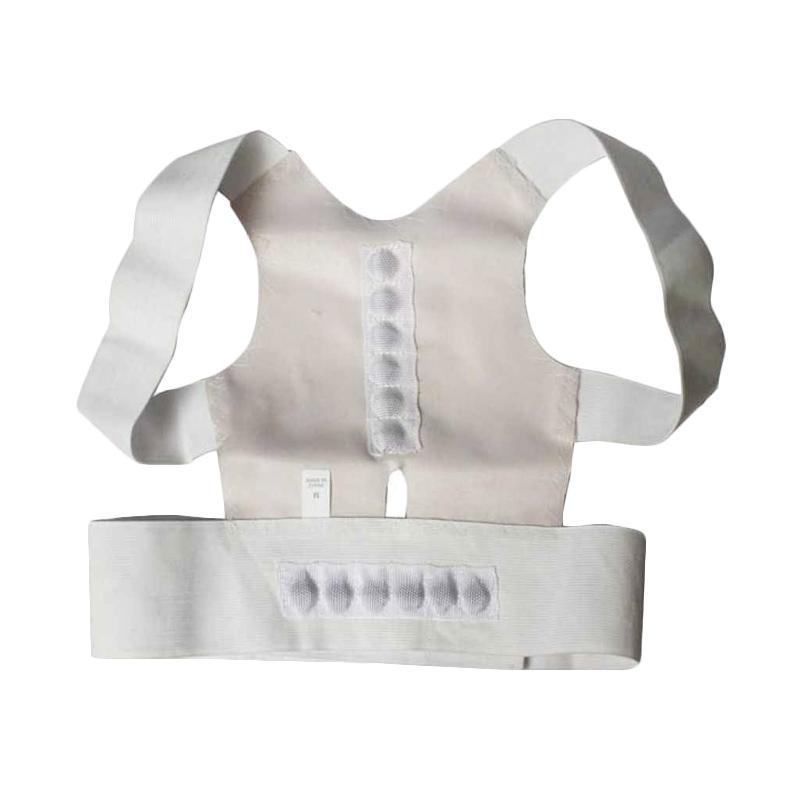 MOS Alat Terapi Kesehatan Tulang Punggung Bungkuk Power Magnetic Posture Support [L]
