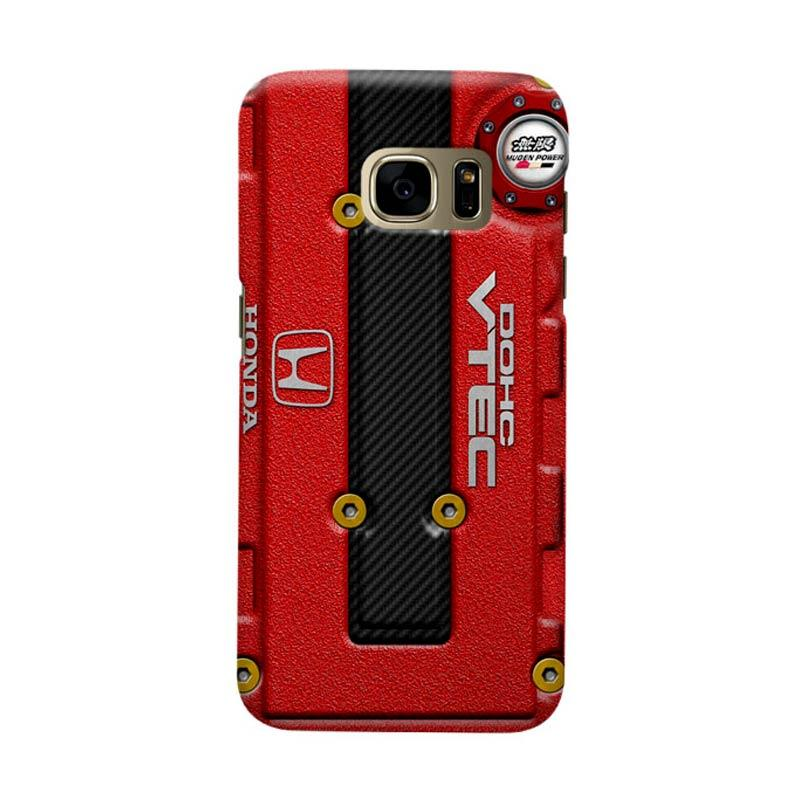 Indocustomcase Honda Cover Engine Cover Casing for Samsung Galaxy S7 Edge