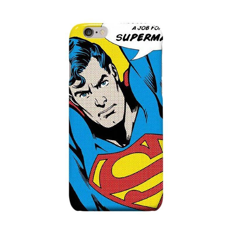 Indocustomcase Superman Pop Art Cover Casing for iPhone 6 Plus or 6S Plus