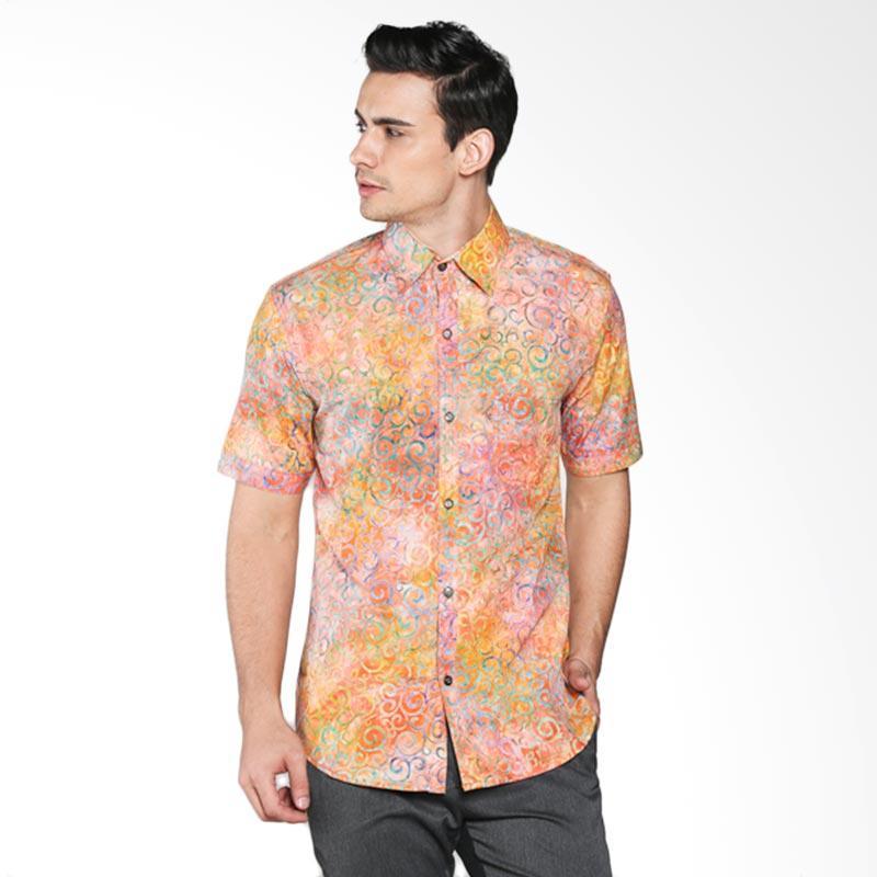 Batik Pria Tampan Curliecue Scroll Slimfit PKMPD-04081659C Men Shirt - Multicolor