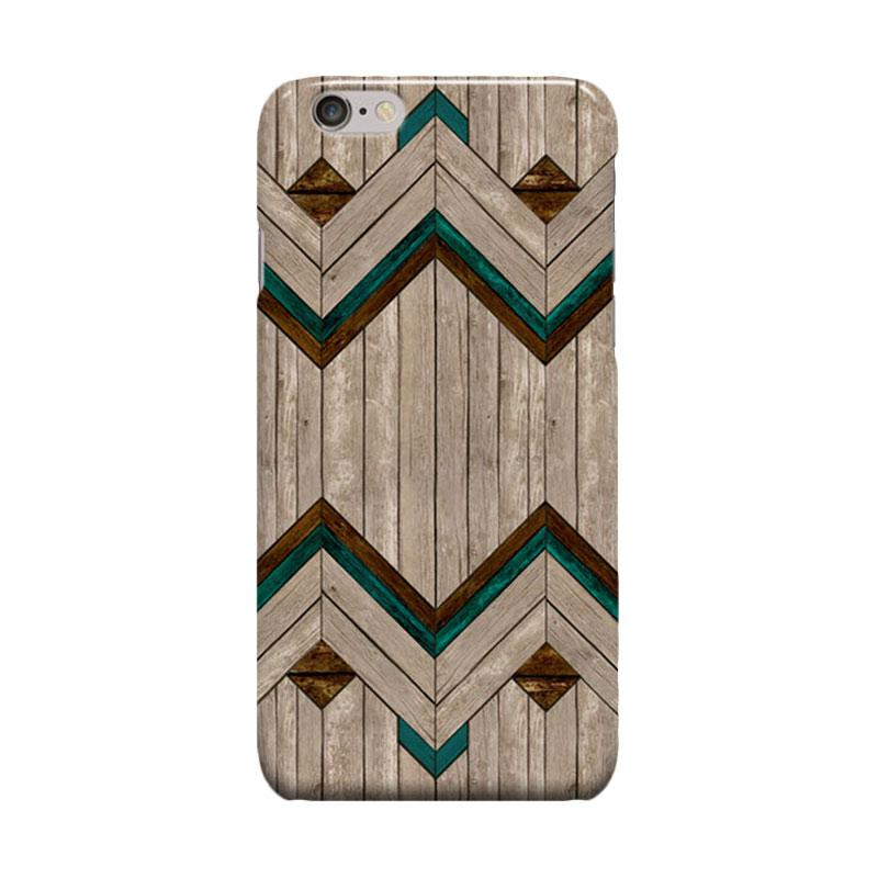 Indocustomcase Mexican Wood Cover Casing for Apple iPhone 6 Plus or 6S Plus