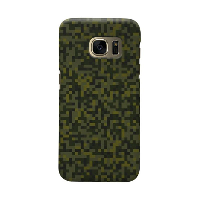 Indocustomcase Army Green Camoflauge 2 Casing for Samsung Galaxy S6