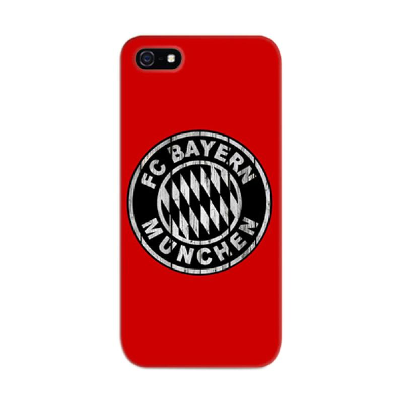 Indocustomcase Bayern Munchen Red Cover Hardcase Casing for Apple iPhone 5/5S/SE