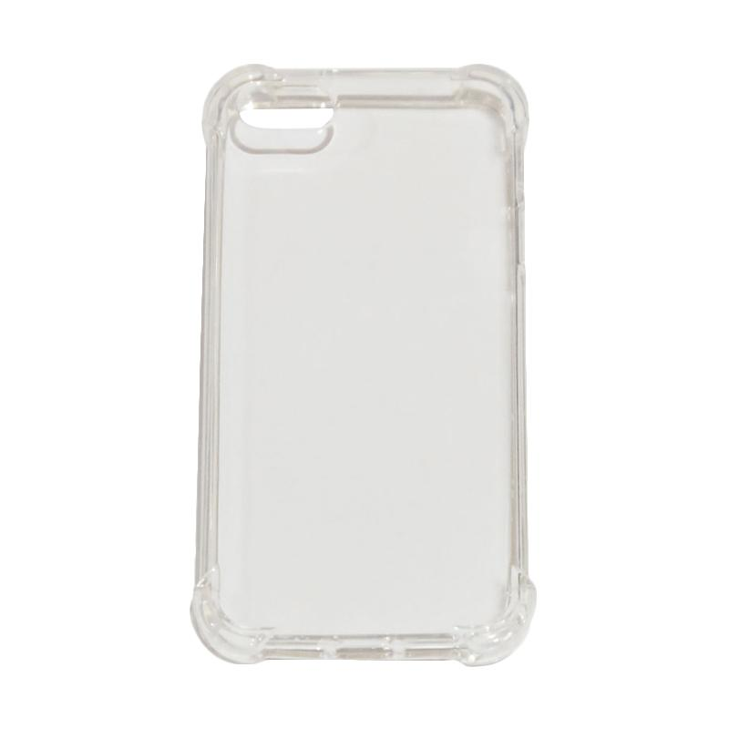 VR List Anti Shock Anti Crack Silicon Softcase for iPhone 5/iPhone5G/iPhone 5S - Transparant