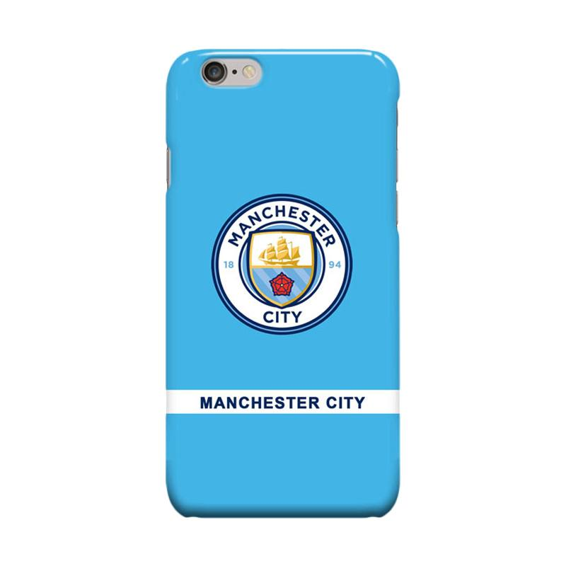 Indocustomcase Menchester Is Blue Cover Casing for iPhone 6 Plus or 6S Plus