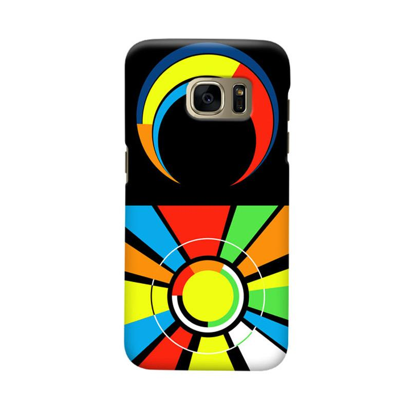 Indocustomcase Sun And Moon Logo Cover Hardcase Casing for Samsung Galaxy S7 Edge