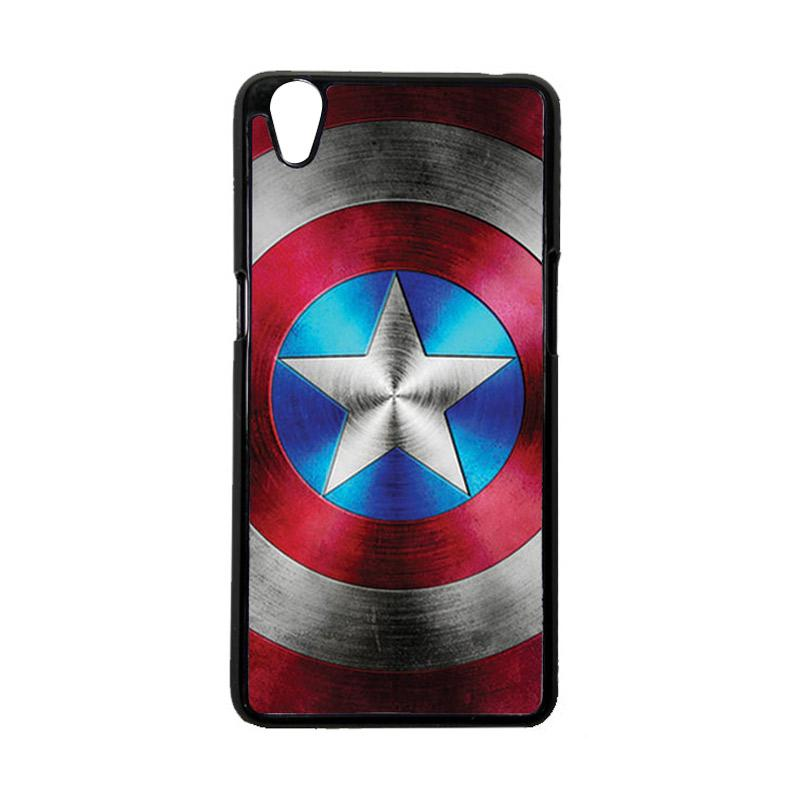 HeavenCase Superhero Captain America 01 Hardcase Casing for Oppo A37 Or Oppo Neo 9 - Hitam/Black