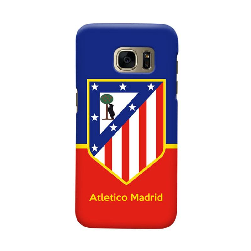 Indocustomcase Atletico Madrid FC Logo Cover Casing for Samsung Galaxy S6 Edge