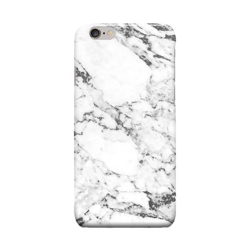 Indocustomcase White Marble Casing for Apple iPhone 6 Plus or iPhone 6S Plus