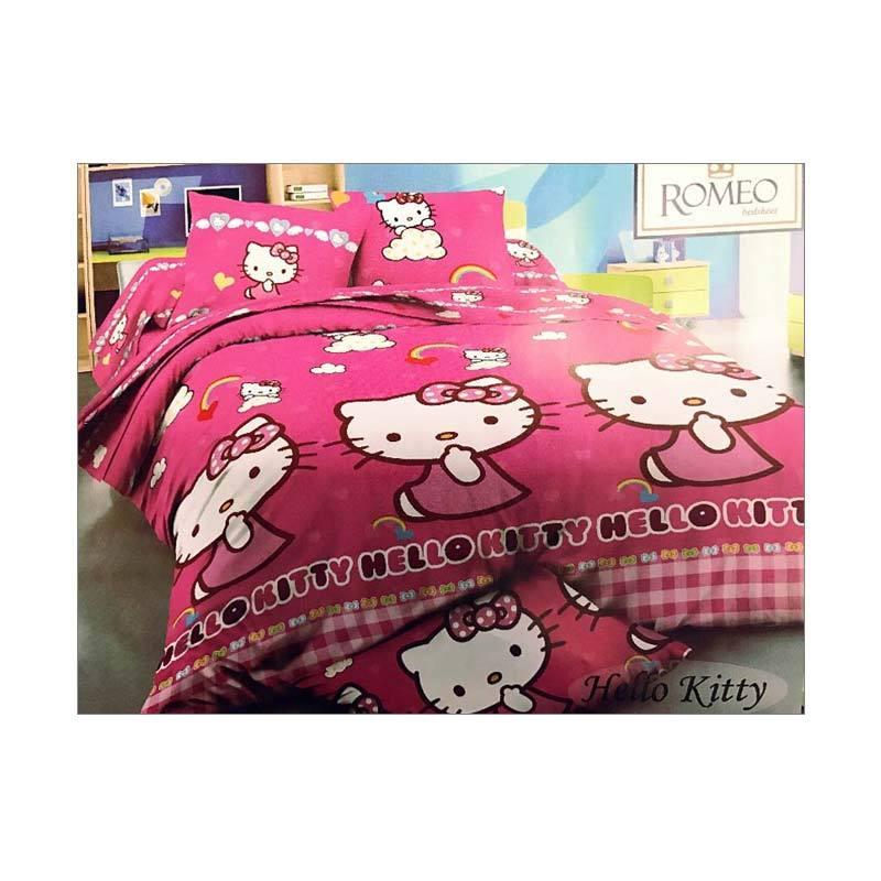 Best Furniture Romeo Hello Kitty Katun Import Set Sprei Anak - Pink [120 x 200 cm]