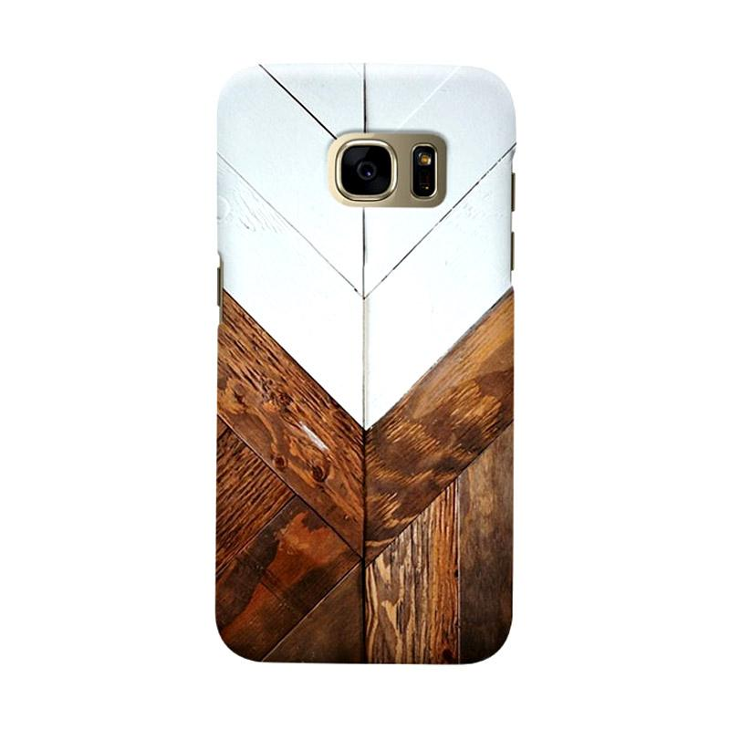 Indocustomcase Wooden Geometric 2 Casing for Samsung Galaxy S7 Edge