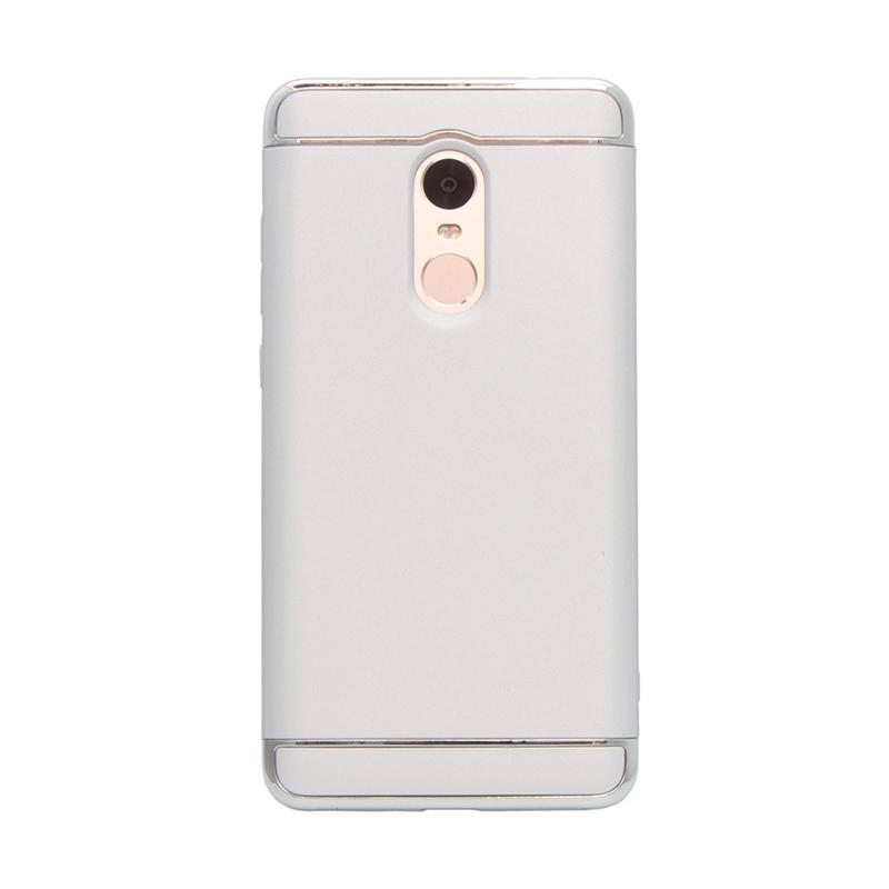 OEM Case 3 in 1 Plated PC Frame Bumper with Frosted Hard Back Casing for Xiaomi Redmi Note 4 - Silver
