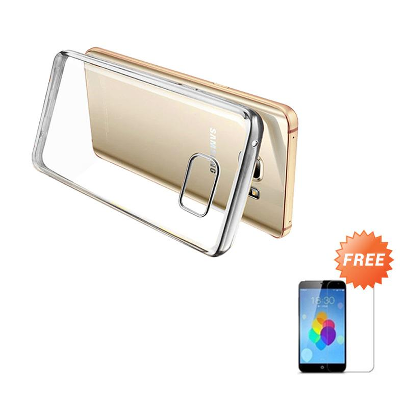 Ultrathin List Chrome Casing for Samsung Galaxy A3 2016 - Silver + Free Temperred Glass