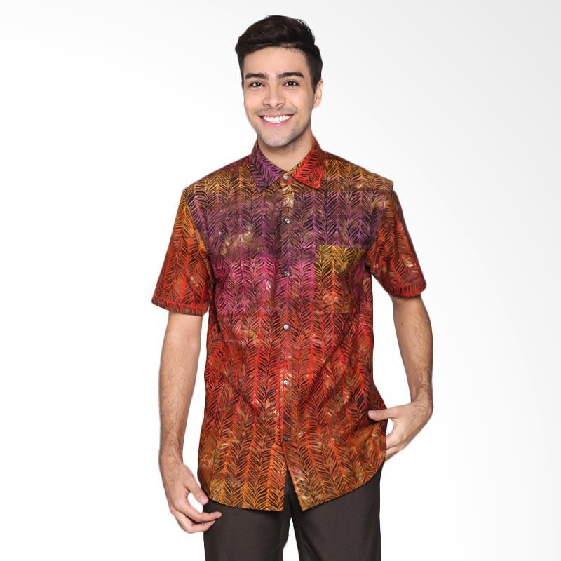 Batik Pria Tampan PKMPD-04081680C-Fiesta Men Feather Stripe Slimfit Shirt Batik Pria