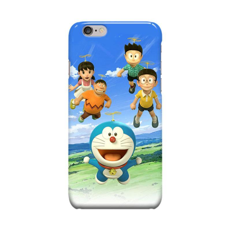 Indocustomcase Cartoon Doraemon 3D Cover Casing for Apple iPhone 6 Plus or 6S Plus