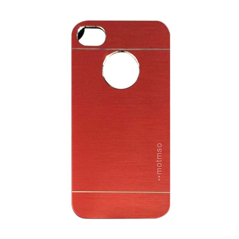 Motomo Metal Hardcase Backcase Casing for Apple iPhone 6/ iPhone 6/ iPhone 6G/ iPhone 6S 4.7 Inch - Red