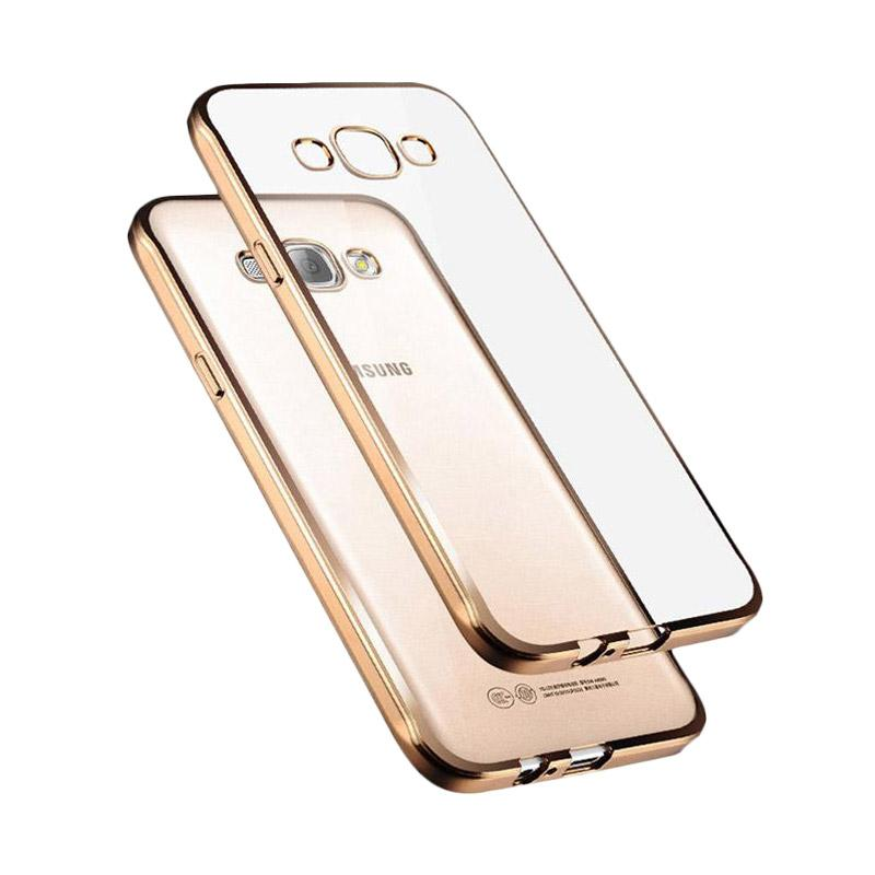 Case Jelly Transparan Shiny Chrome List Softcase Casing for Samsung Galaxy Grand 1 .
