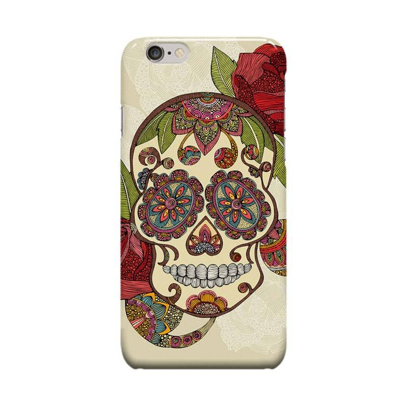 Indocustomcase Sugar Skull Cover Casing for Apple iPhone 6 Plus or 6S Plus