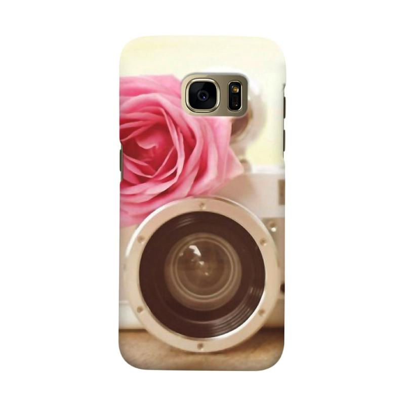 Indocustomcase Vintage Flower Camera Cover Casing for Samsung Galaxy S6