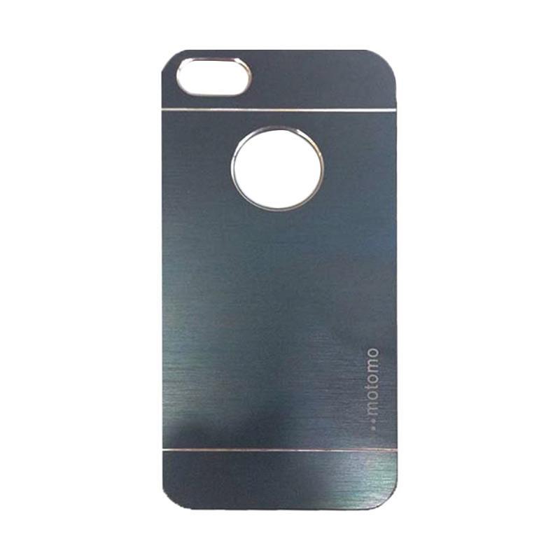 Motomo Metal Hardcase Backcase Casing for Apple iPhone 4/ iPhone 4/ iPhone 4G/ iPhone 4S - Dark Blue