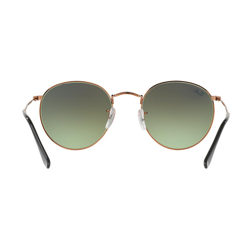 ... sale jual ray ban 9002a6 round metal rb3447 green gradient brown  sunglasses shiny medium bronze size 8ddbdf8ea1