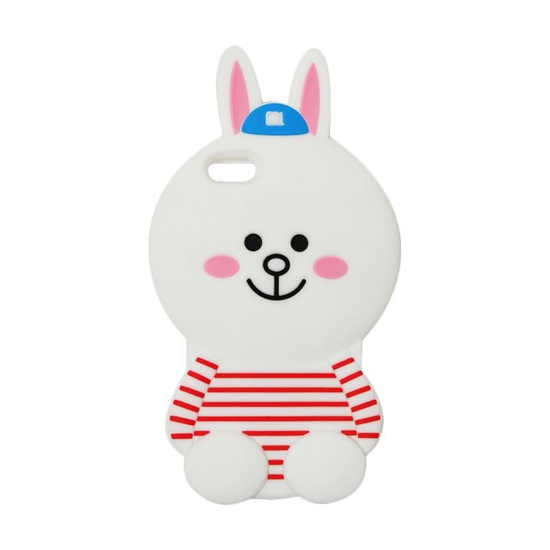 VR Karakter 3D Cony Line Edition Silicon Softcase Casing for Apple iPhone 6 Plus 5.5 Inch - White