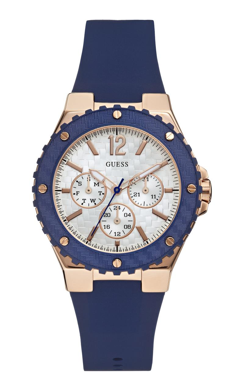 GUESS W0149L5 Overdrive Guess Watch Rubber Stainless Steel Jam Tangan Wanita - Navy Blue