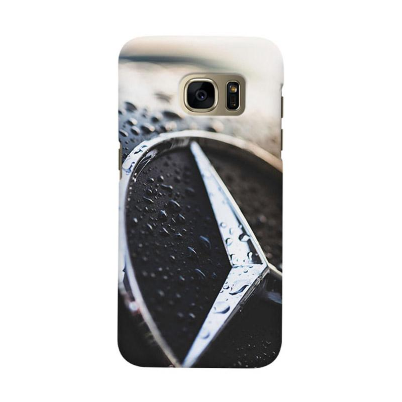 Indocustomcase Mercedes Benz Logo Cover Casing for Samsung Galaxy S6 Edge