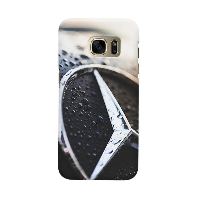 Indocustomcase Mercedes Benz Logo Cover Casing for Samsung Galaxy S7 Edge