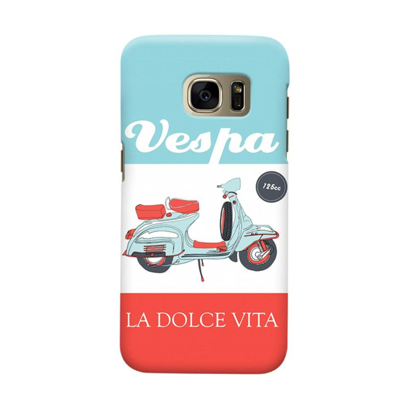Indocustomcase Vespa La Dolce Vita Casing for Samsung Galaxy S7 Edge