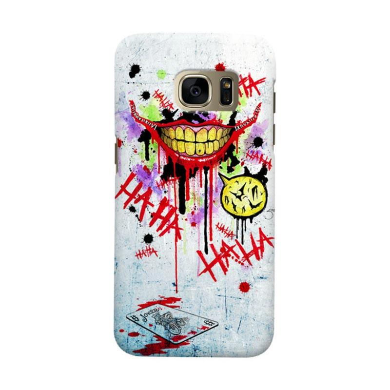 Indocustomcase Batman Joker Art RB Cover Casing for Samsung Galaxy S6 Edge